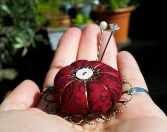 Miniature Pincushion, Claret Crown