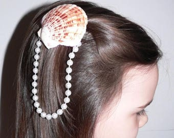 SUMMER SALE 20% OFF Mermaid Sea Shell Hair Clip