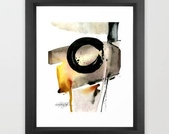 """Enso Zen Circle Watercolor Painting, Spiritual art archival Large Giclee Print, """"Enso Abstraction No.105"""" by Kathy Morton Stanion  EBSQ"""
