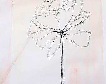 Fleur  - Floral Watercolor Art Print