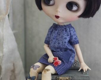 Lobelia Smock Dress for Blythe Doll