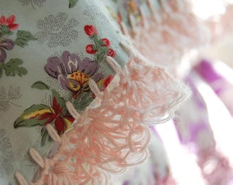 pillowcase with crochet trim  -  Reverie