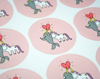 STICKERS: Unicorn and Narwhal