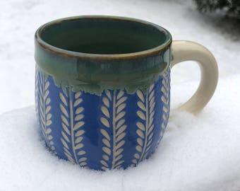Handmade Wheel Thrown Ceramic Mug - Handmade Pottery and Ceramics - Pottery Mug