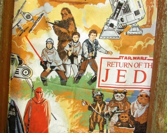 vintage Star Wars curtains - Return of the Jedi - pair of long drapes - Lucasfilm 1983