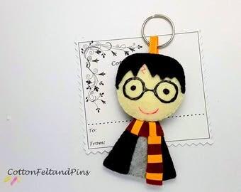 Keyrings/bag charm Handmade padded Felt Harry Potter inspired Keyring/bag charm