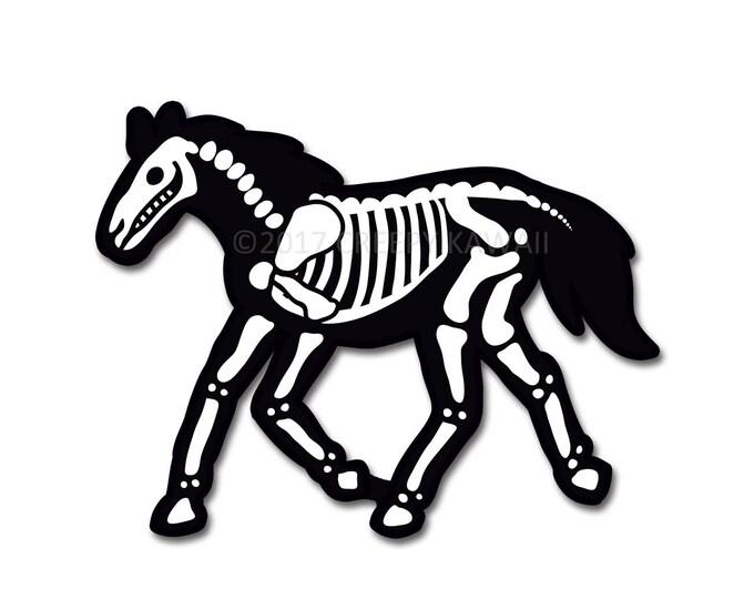 Skeletal Horse - 3 Inch Weatherproof Vinyl Sticker