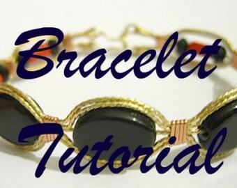 TUTORIAL: Flat Oval Beaded Wire Wrapped Bracelet PDF ePattern