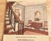 1942 Sears and Roebuck Wallpaper Sample Book   World War II  Wallpaper Design Book from Sears and Roebuck