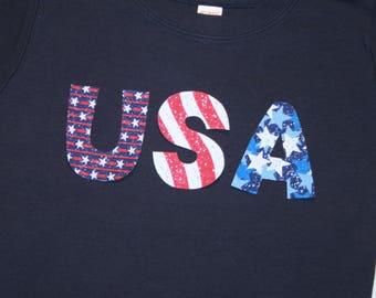4th of July Boys Girls USA Shirt - Short Sleeve CUSTOM sizes 6 month to size 8