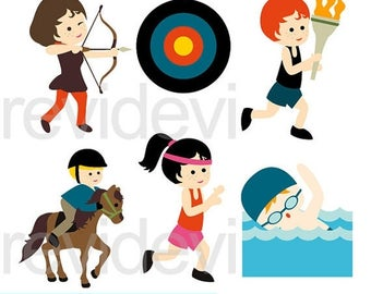 35% OFF SALE Sport clipart - Summer Olympic A clipart - Olympic digital clip art - instant download, commercial use