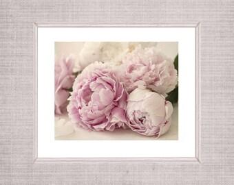 Printable Peony Photograph,  Art Poster, Large Art, Peony Fine Art Print, Pink Bedroom Wall Decor