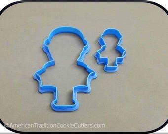 Set of 2 Dracula Vampire 3D Printed Cookie Cutters