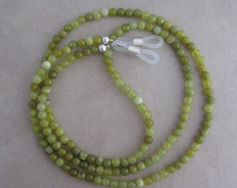 jade silver eyeglass chain
