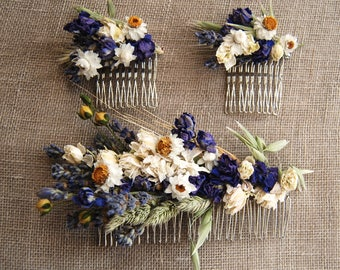 Custom Dried Flower Comb for Brides, Bridesmaids, Flower Girls, Flower Fairies and those that love to wear Flowers in their hair
