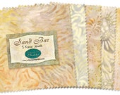 Sand Bar-Wilmington Batavian Batiks-Neutral Fabric Charm Pack