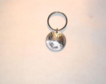 Bicentennial Quarter key ring