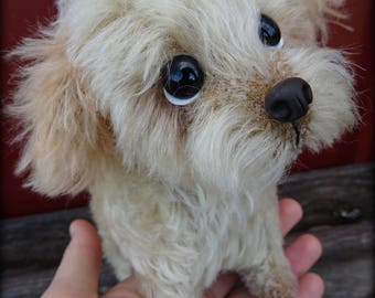 PUP - tiny soft sculpture puppy dog poodle terrier Maltese spaniel and or mixed breed PATTERN by Emma's Bears