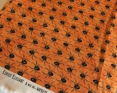 Halloween fabric, Halloween Decor, Halloween party fabric, Eerily Elegant by Moda, Halloween Spider in Orange, Choose the cut