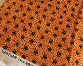 Halloween fabric, Halloween Decor, Halloween party fabric, Eerily Elegant by Moda, Halloween Spider in Orange, Choose the cut