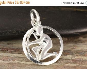 MATERNITY LEAVE SALE Sagittarius zodiac pendant in sterling silver - Archer necklace, zodiac necklace, zodiac jewelry, astrology