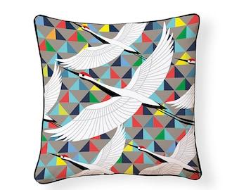 Crane Indoor/Outdoor Pillow
