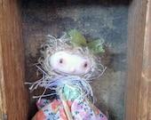 """Primitve art doll accessory BJD Blythe prop miniature creepy cute """"Elle"""" party favor"""