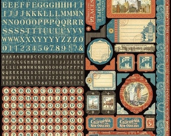 NOW ON SALE Graphic 45 Cityscapes Stickers 12x12
