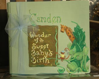Rainforest Baby Memory Book | The Wonder of a Sweet Baby's Birth