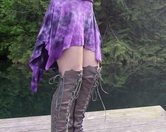 Persephone Skirt - Boho Skirt - Womens Skirt - Short Skirt - Hippie Skirt - Festival Skirt - Mini Skirt - Black Skirt - Bamboo Skirt