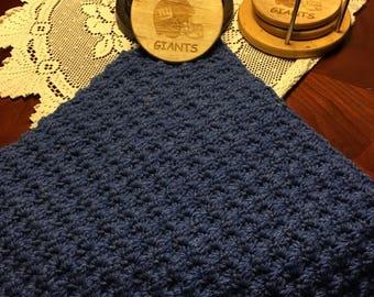 Big Blue Denim Baby Blanket