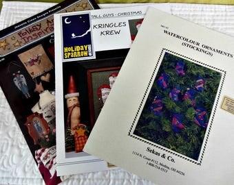 Needlework - Cross Stitch Books/Charts - Set of 3