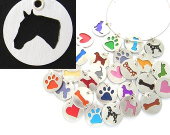 Thoroughbred Horse Head Sterling Silver Necklace Pendant Charm - Lots of Colors