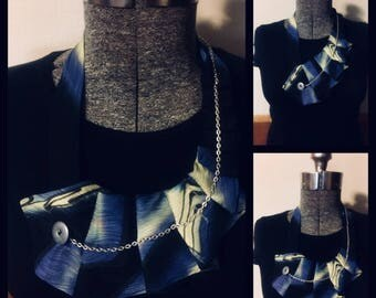 Necktie necklace with chain