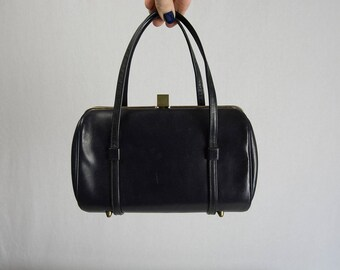 Vintage 1950's Navy Blue Pocketbook Handbag Petite Purse by Etra