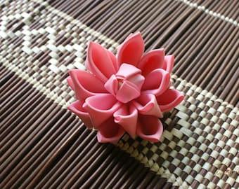 Pink Lotus | Kanzashi Flower Hair Clip