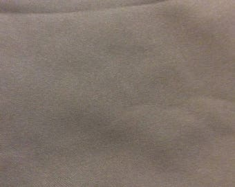 3 1/3 Yards of VIntage Grey Double Knit Fabric