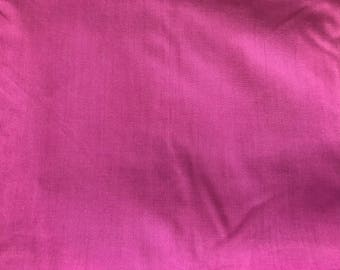 2 Yards of Vintage Fuchsia Pink Cotton Fabric
