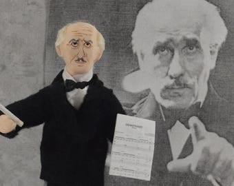 Orchestra Conductor Arturo Toscanini Italian Musician Collectible Art Figure