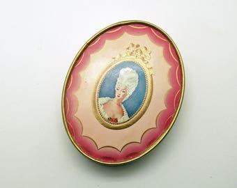 Antique Face Powder Box DuBarry Vintage Vanity Hudnut