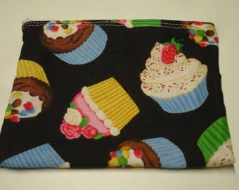 Cupcakes Zippered Pouch READY TO SHIP