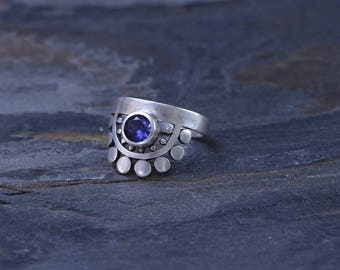 Sunflower Slice Ring with Tanzanite