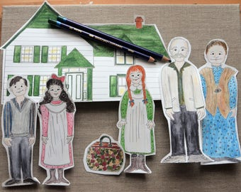 Anne of Green Gables Printable Paper Doll Set in color