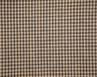 Check Material | Cotton Material | Quilt Material | Craft Material | Home Decor Fabric | Homespun Cotton Black Small Check Material 21 x 44