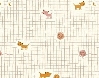 20%OFF Heather Ross Tiger Lily Kittens Pink