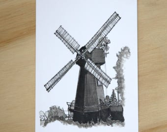 Blank windmill card.