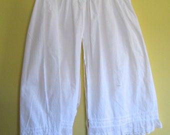 antique pantaloons . victorian underwear . linen pantaloons