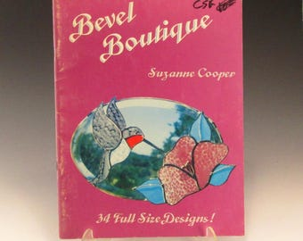 Stained Glass Pattern Book - Bevel Boutique by Suzanne Cooper - Vintage Book
