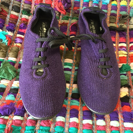 Arcopedico Purple Stretch Knit Casual Comfort Tie Shoes size 42 /10.5