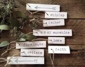 Custom for vintagebabe49 (Set of 15 Shabby White Wooden Tags)